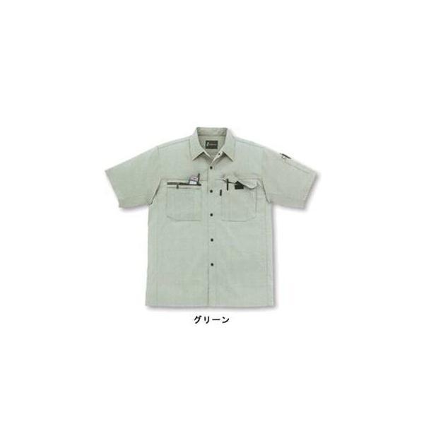 サンエス WA10317(BC10317) 半袖シャツ サマーツイル(ポリエステル65%・綿35%) ストレッチ 帯電防止素材