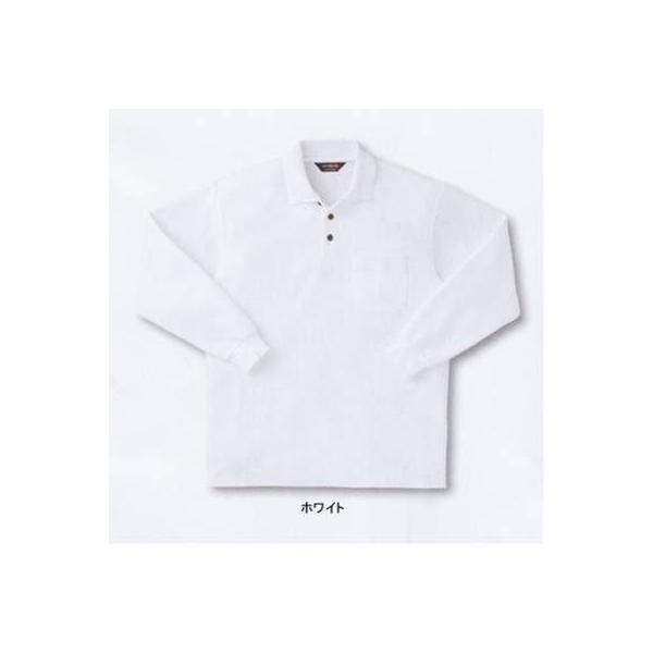 サンエス SA10071(AG10071) 長袖ポロシャツ カノコ(綿60%・ポリエステル40%) ストレッチ