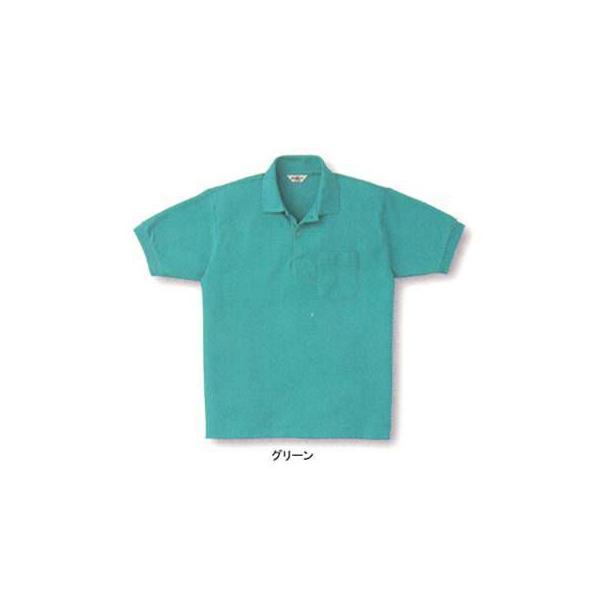 サンエス SA10040(AG10040) 半袖ポロシャツ カノコ(ポリエステル65%・綿35%) ストレッチ