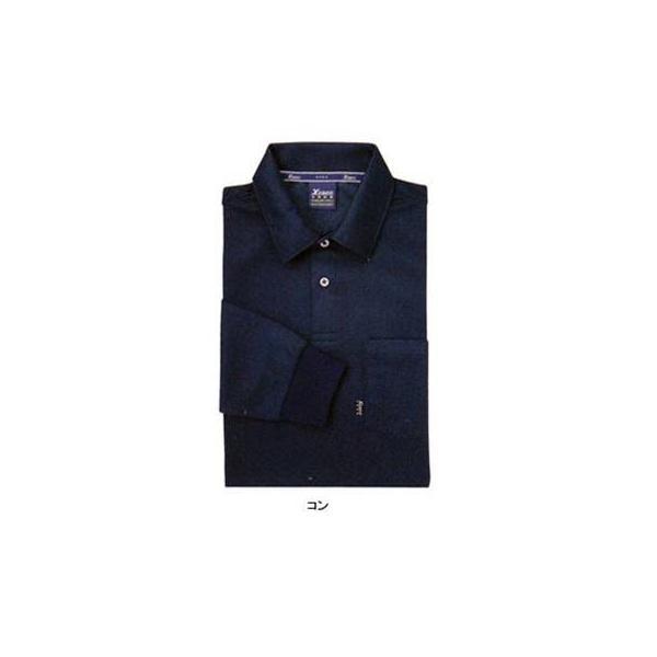 ジーベック 6145 長袖ポロシャツ スムースジャガード ポリエステル95%・綿5% 伸縮素材