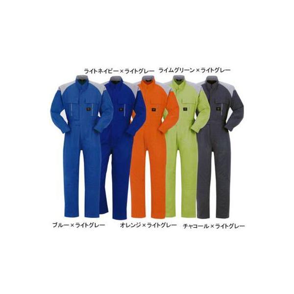 DON 4000 ツナギ服 ツイル(中国製) ポリエステル65%・コットン35% 膝ストレッチ(膝のみ内側ストレッチ素材) 帯電防止