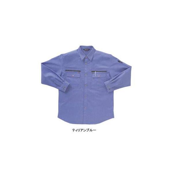 サンエス WA8290(BC8290) 長袖シャツ ツイル(ポリエステル55%・綿45%) ストレッチ 帯電防止素材