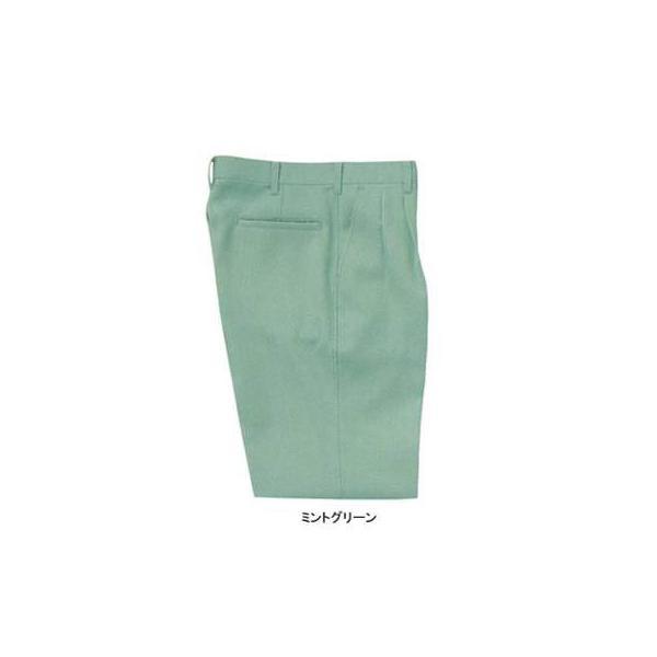 サンエス WA3740(BC3740) ツータックパンツ 二重織り裏綿(ポリエステル90%・綿10%) ストレッチ 帯電防止素材