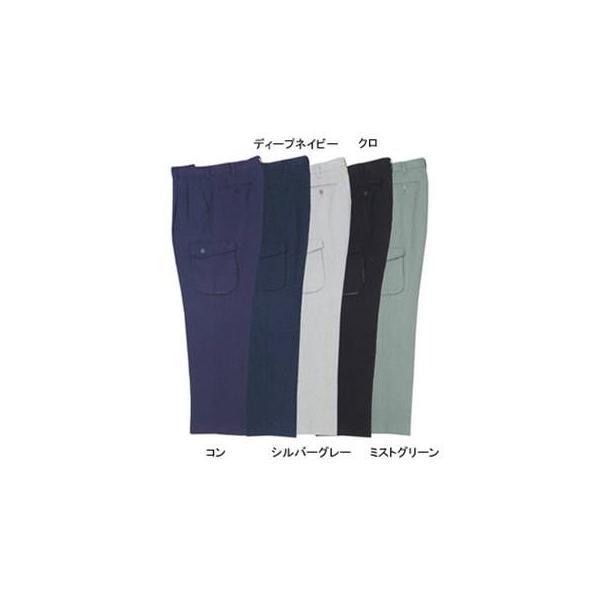 ジーベック 1573 ツータックラットズボン エコ裏綿 ポリエステル90%・綿10% 帯電防止素材 CRESTA21