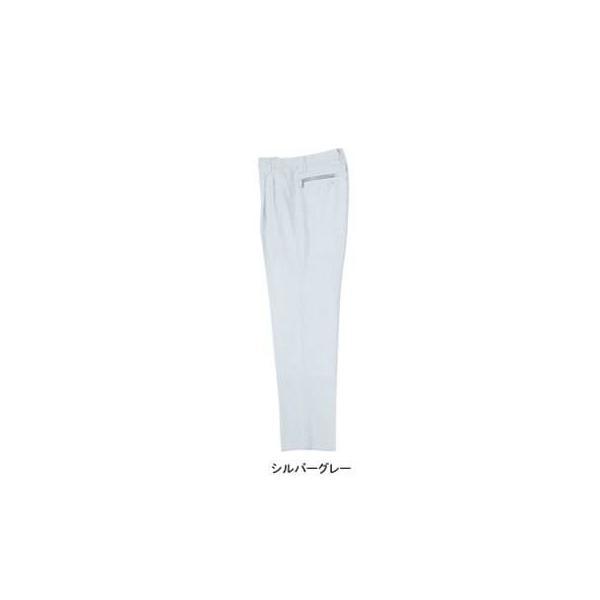 ジーベック 1242 ツータックスラックス 裏綿ツイル ポリエステル90%・綿10% 帯電防止素材