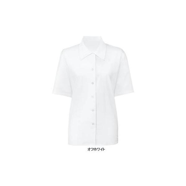 事務服 制服 ヌーヴォ FB7003 ブラウス(半袖) 19号・オフホワイト1 kinsyou-webshop