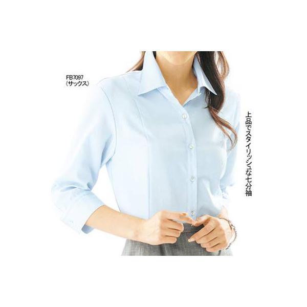 オフィスウェア 事務服 制服 ヌーヴォ FB7097 ブラウス(七分袖) 5号〜19号|kinsyou-webshop|02