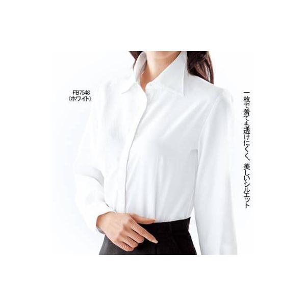 オフィスウェア 事務服 制服 ヌーヴォ FB7548 ブラウス(長袖) 5号〜19号|kinsyou-webshop|02