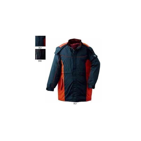 ジーベック 601 防水防寒コート [表]ポリエステル100%(ポリエステルタフタ)、[裏]ポリエステル100%(タフタ)、[中綿]ポリエステル100% 耐水圧8000mm PVCコーティング 防風性