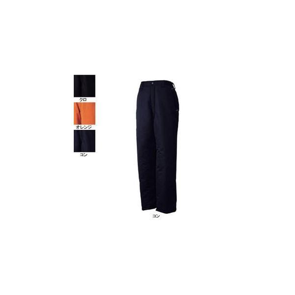 ジーベック 590 防寒パンツ [表]ポリエステル100%(タッサー)、[裏]ポリエステル100%(タフタ)、[中綿]ポリエステル100% 耐水圧5000mm 透湿性2000g 撥水加工 防風性