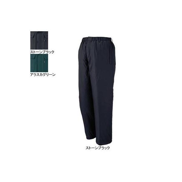 ジーベック 550 防寒パンツ [表]ナイロン100%(タフタ)、[裏]ポリエステル100%(トリコット起毛)、[中綿]ポリエステル100% 耐水圧1000mm 透湿性7000g 防風性