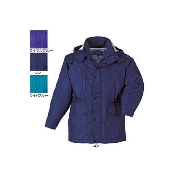 ジーベック 281 防寒コート [表]ナイロン100%(異形糸タフタ)、[裏]ポリエステル100%(キルティング)、[中綿]ポリエステル100% 撥水加工