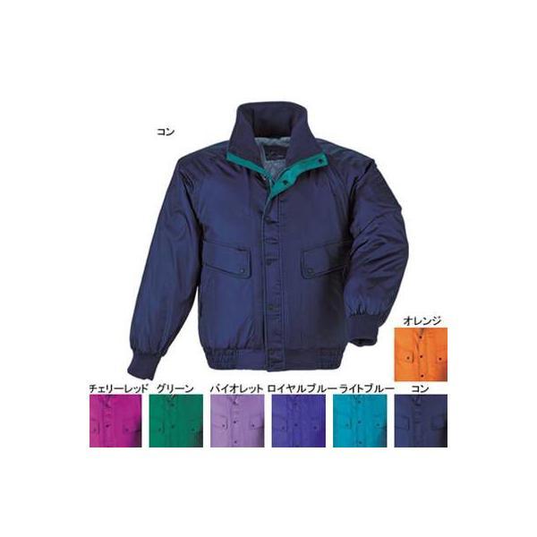 ジーベック 285 防寒ブルゾン [表]ナイロン100%(異形糸タフタ)、[裏]ポリエステル100%(キルティング)、[中綿]ポリエステル100% 撥水加工