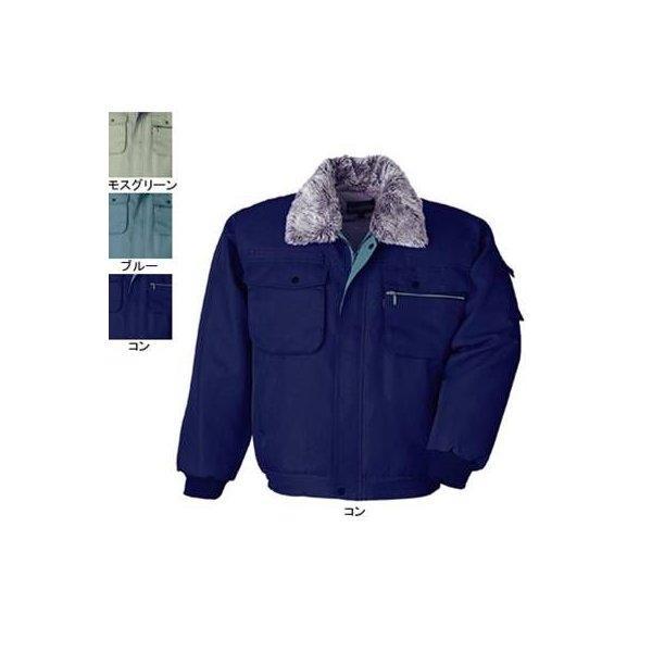 ジーベック 172 防寒ブルゾン [表]ポリエステル100%(加工糸ツイル)、[裏]ポリエステル100%(トリコット起毛キルト)、[中綿]ポリエステル100% 撥水加工