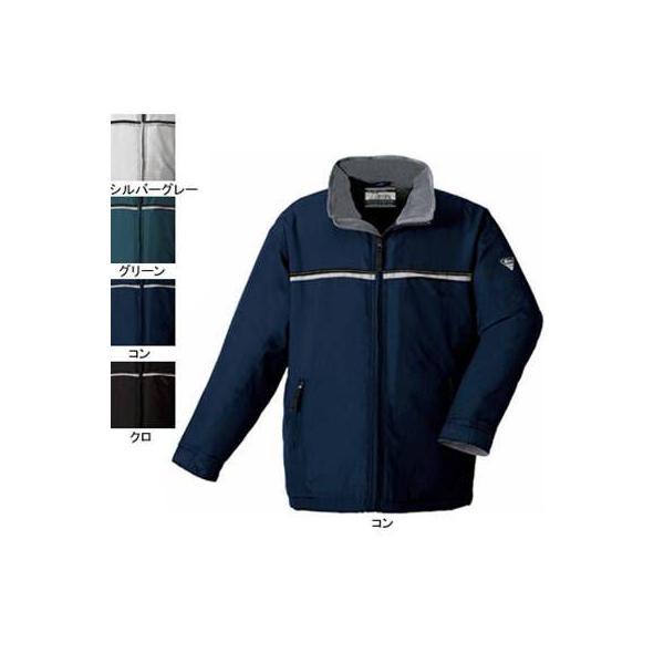 ジーベック 242 軽防寒ジャケット [表]ポリエステル100%(ポリエステルタフタ)、[裏]フリース&キルティング・ポリエステル100%(フリース) 撥水加工 反射テープ