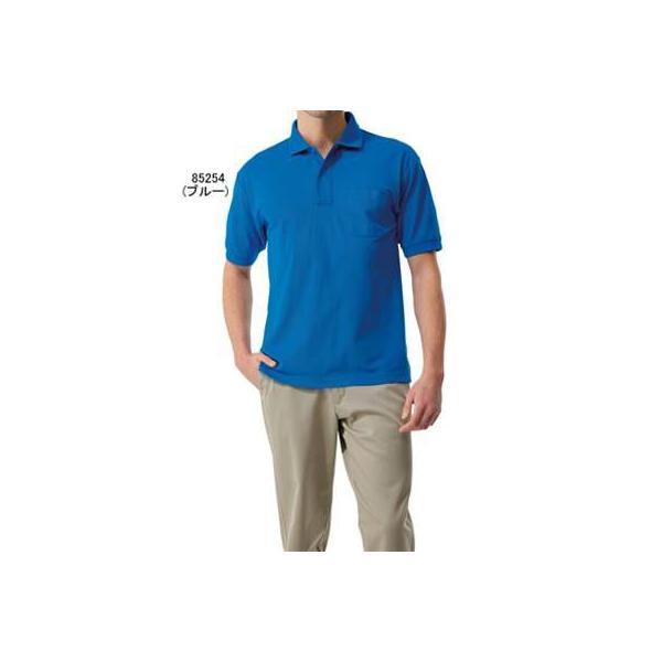 作業服 作業着 自重堂 85254 エコ製品制電半袖ポロシャツ SS〜LL|kinsyou-webshop|02
