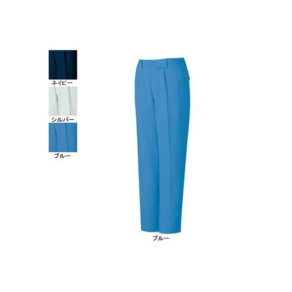 自重堂 81101 エコ製品制電ワンタックパンツ エコ交織裏綿ツイル(ポリエステル90%・綿10%)(表/ポリエステル100%、裏/ポリエステル65%・綿35%) 帯電防止JIS T8118適合商品