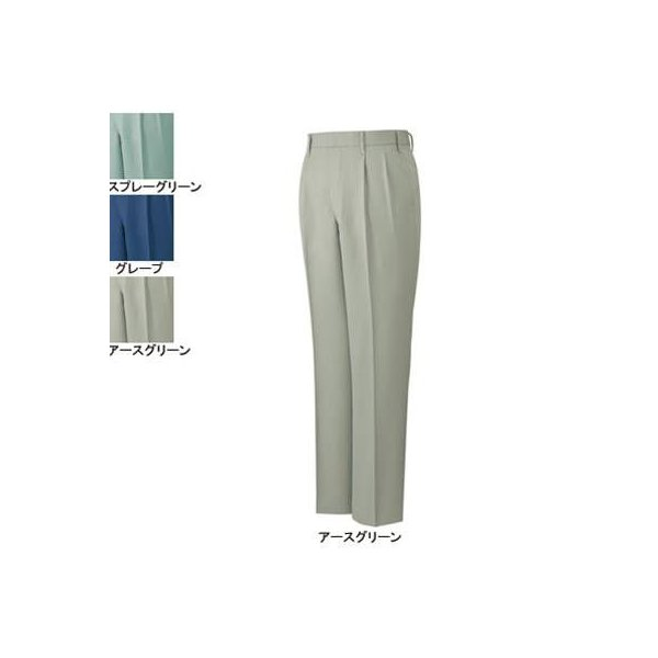 自重堂 40001 エコツータックパンツ クララペット裏綿ツイル(ポリエステル90%・綿10%)(表/ポリエステル100%、裏/ポリエステル65%・綿35%) 帯電防止素材使用