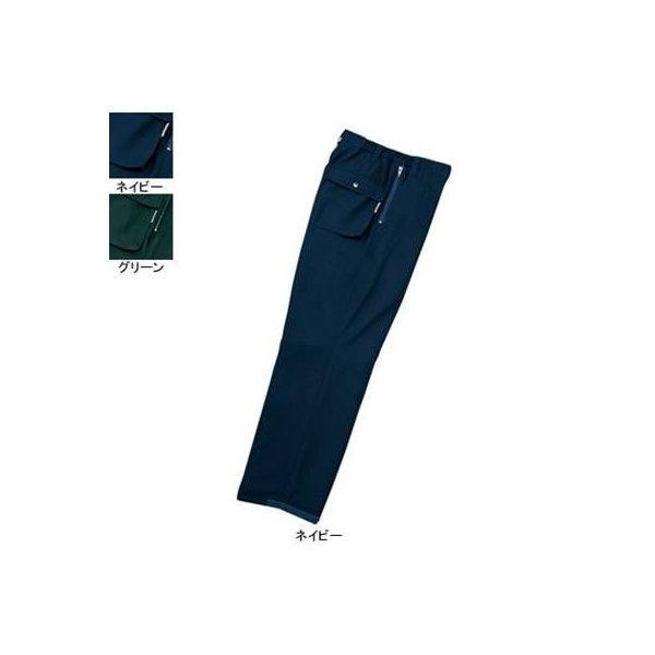 自重堂 48121 防寒パンツ ミルパギャバ(表地/ポリエステル100%、裏地/上半分:ポリエステル起毛トリコット・中綿シンサレート40g+中綿80gキルト、下半分:ポリエステルタフタ・中綿シンサレート40g+中綿60gキルト) 帯電防止素材使用 撥水加工