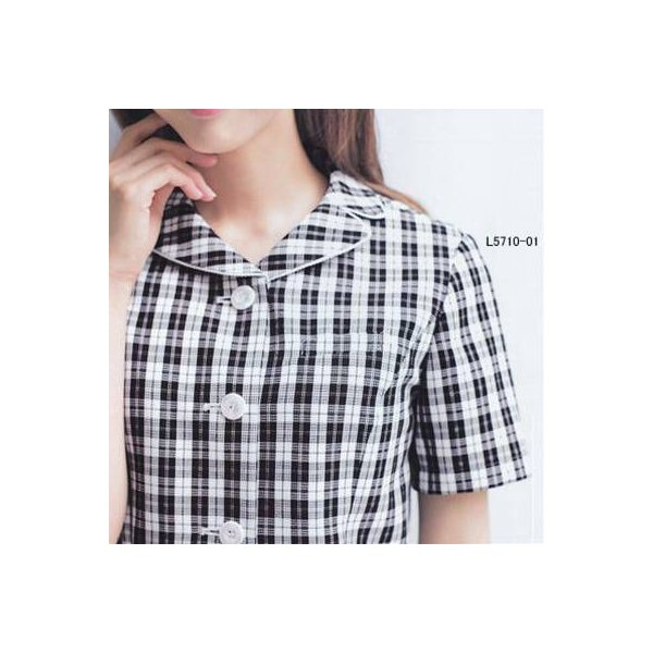 オフィスウェア 事務服 制服 ピエ L5710-01 オーバーブラウス 5号〜15号|kinsyou-webshop|02