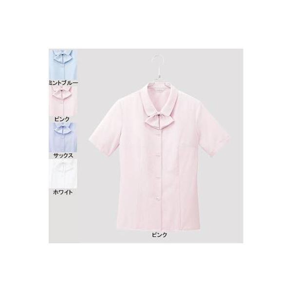 ピエ B2600-38 半袖ブラウス 19号・ピンク|kinsyou-webshop