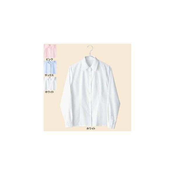 オフィスウェア ピエ B8500-01 長袖ブラウス 5号〜15号|kinsyou-webshop