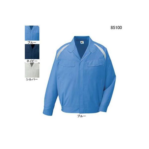自重堂 85100 エコ製品制電長袖ブルゾン エコドビークロス(ポリエステル65%・綿35%) 帯電防止JIS T8118適合商品