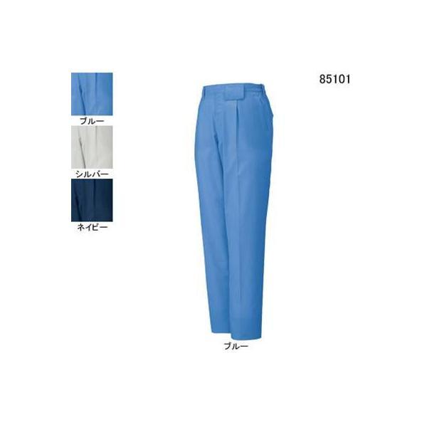 自重堂 85101 エコ製品制電ワンタックパンツ エコドビークロス(ポリエステル65%・綿35%) 帯電防止JIS T8118適合商品