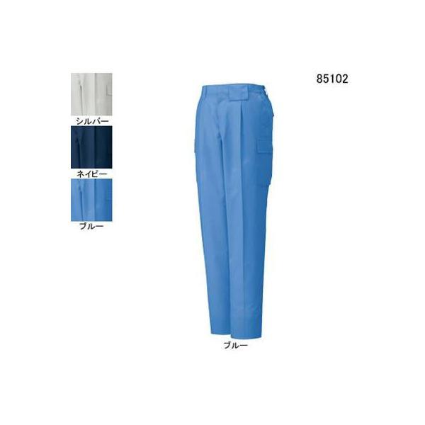 自重堂 85102 エコ製品制電ワンタックカーゴパンツ エコドビークロス(ポリエステル65%・綿35%) 帯電防止JIS T8118適合商品