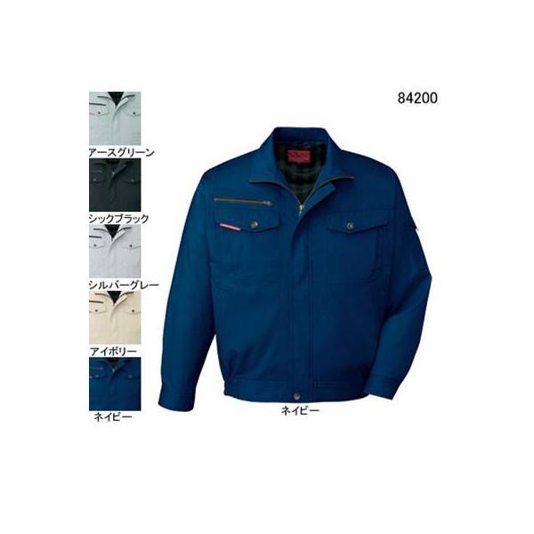 自重堂 84200 ストレッチ長袖ブルゾン サマーツイル(綿100%) ストレッチ