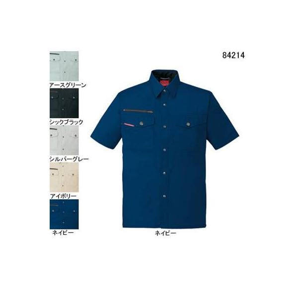 自重堂 84214 ストレッチ半袖シャツ サマーツイル(綿100%) ストレッチ