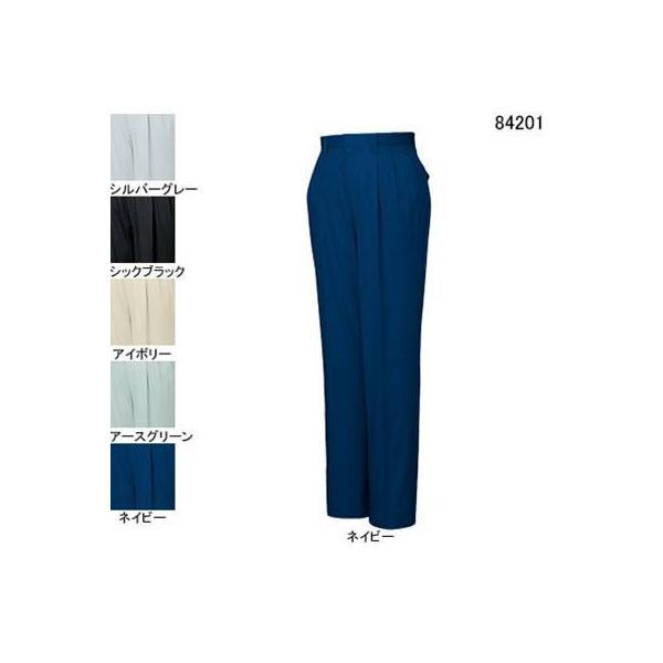 自重堂 84201 ストレッチツータックパンツ サマーツイル(綿100%) ストレッチ