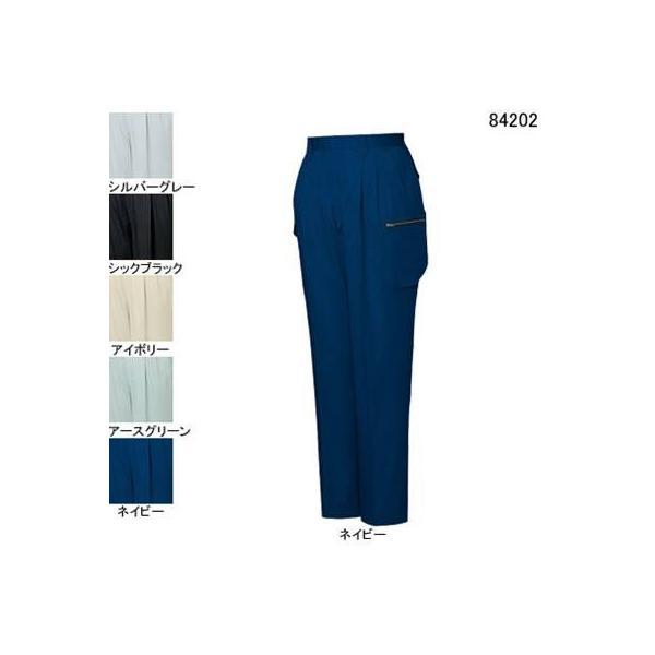 自重堂 84202 ストレッチツータックカーゴパンツ サマーツイル(綿100%) ストレッチ