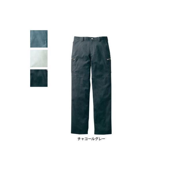 自重堂 Jawin 51802 ノータックカーゴパンツ 起毛ミニヘリンボン(ポリエステル65%・綿35%) 帯電防止素材使用