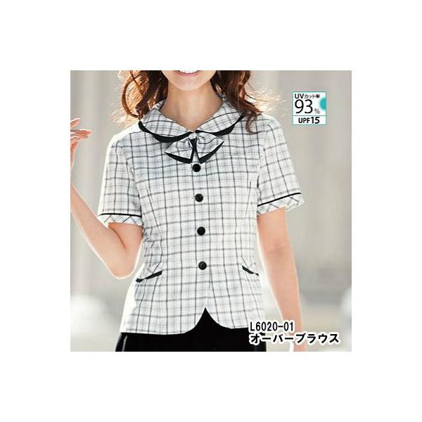 オフィスウェア 事務服 制服 ピエ L6020 オーバーブラウス 21号|kinsyou-webshop|02