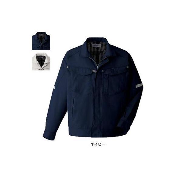 コーコス A-421 長袖ブルゾン サマーストレッチオックス ポリエステル85%・綿15% ストレッチ JIS帯電防止規格合格
