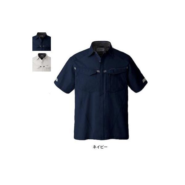 コーコス A-427 半袖シャツ サマーストレッチオックス ポリエステル85%・綿15% ストレッチ JIS帯電防止規格合格