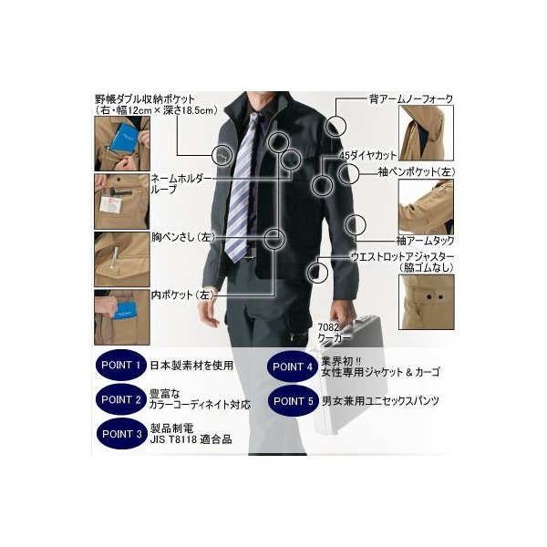 作業着 作業服 バートル BURTLE 7081 ジャケット M〜LL ストレッチ かっこいい|kinsyou-webshop|03