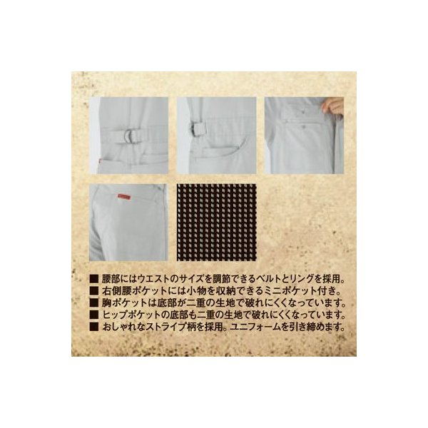 Dickies ディッキーズ 713 半袖ストライプツヅキ服 つなぎ S〜LL kinsyou-webshop 03