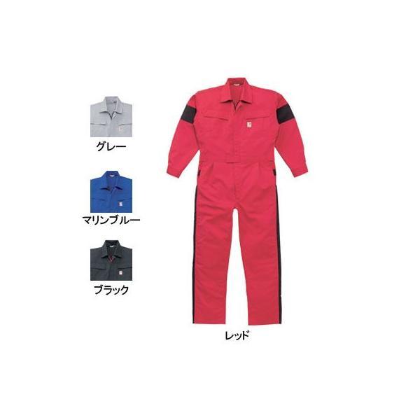 山田辰 Kansai uniform 12-KM-207 つなぎ服 ポリエステル69%・複合繊維(ポリエステル)1%・綿30% 横ストレッチ素材 帯電防止織物使用