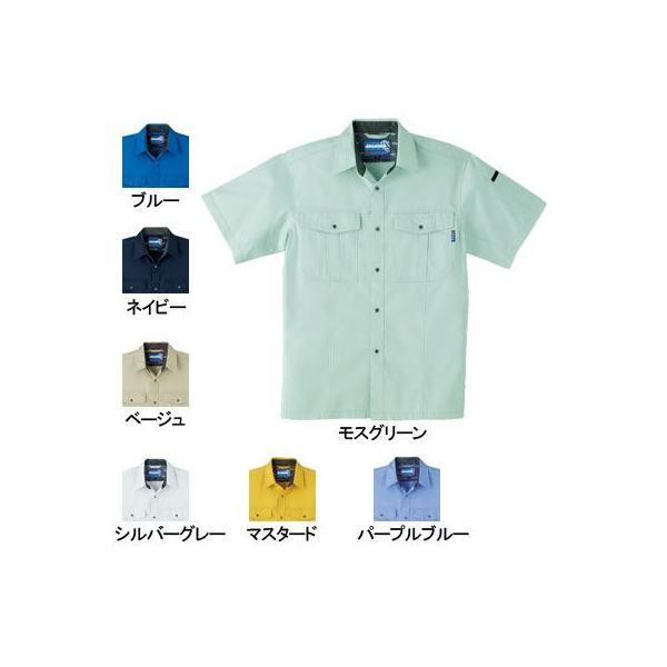 桑和 Absolute GEAR 617 半袖シャツ 制電性素材 ポリエステル65%・綿35%(T/Cソフトライトツイル)