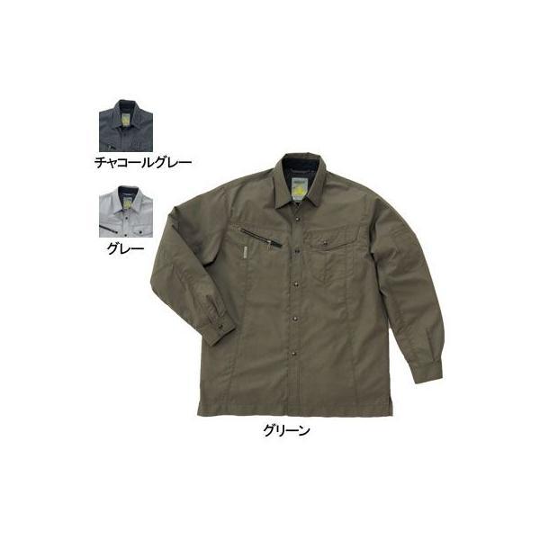桑和 Absolute GEAR 325 長袖シャツ 制電性素材 ポリエステル65%・綿35%