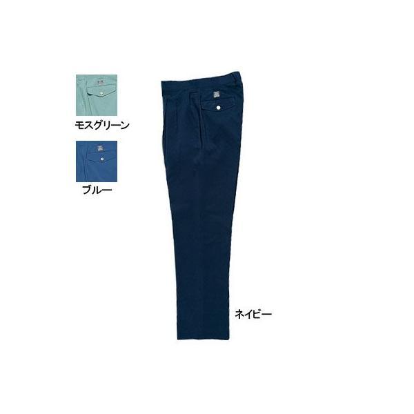 桑和 929 ツータックスラックス ポリエステル95%・綿5%(エコ素材)(表:ポリエステル100%、裏:ポリエステル65%・綿35%) ストレッチレベル1(伸縮率15%未満) 二重織 制電性素材 風通しが良い ソフト加工 吸汗速乾 イージーケア