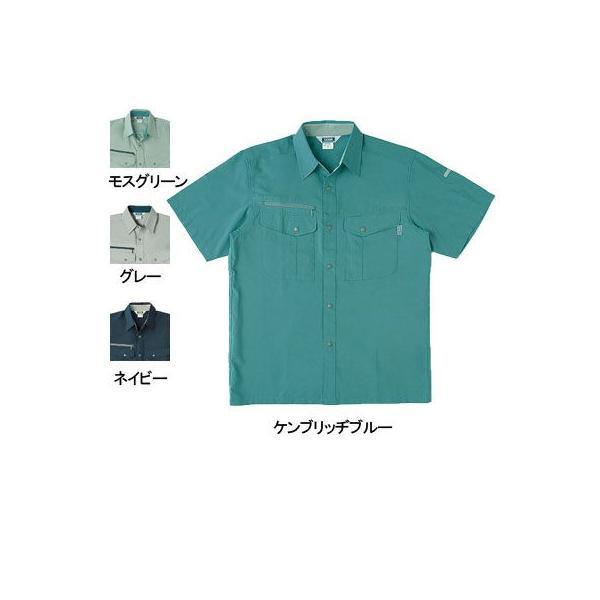 桑和 717 半袖シャツ 制電性素材 ポリエステル80%・綿20%