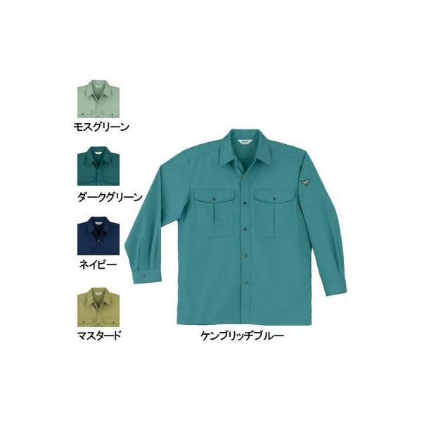 桑和 455 長袖シャツ 制電性素材 ポリエステル65%・綿35%(T/Cソフトライトツイル)