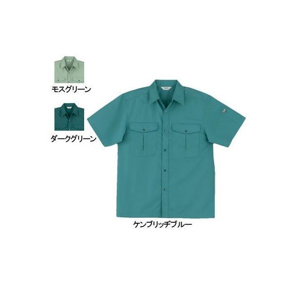 桑和 457 半袖シャツ 制電性素材 ポリエステル65%・綿35%(T/Cソフトライトツイル)