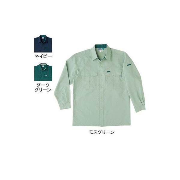 桑和 915 長袖シャツ 制電性素材 ポリエステル90%・綿10%(表:ポリエステル100%、裏:綿100%)