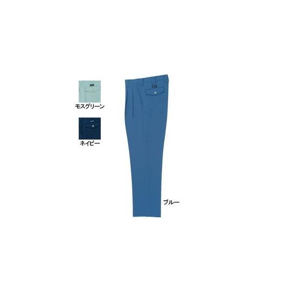 桑和 9229 ツータックスラックス ポリエステル90%・綿10%(エコ素材 ツイル裏綿) ストレッチレベル1(伸縮率15%未満) 制電性素材 二重織 ソフト加工 イージーケア