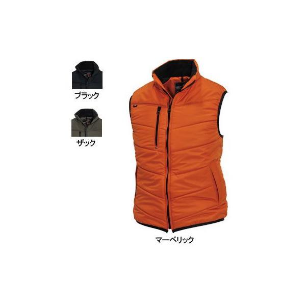 バートル 4030 防寒ベスト 表地:マイクロストライプシェル(シレー加工)、PUコーティング(防風、保温) 裏地:タフタ ポリエステル100%