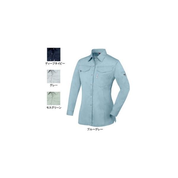 ジーベック 1495 レディスシャツ T/Cサマーツイル ポリエステル65%・綿35% 帯電防止素材